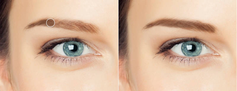 Eyebrow pencil, photo retouching, touch up, makeup tips, PicMonkey