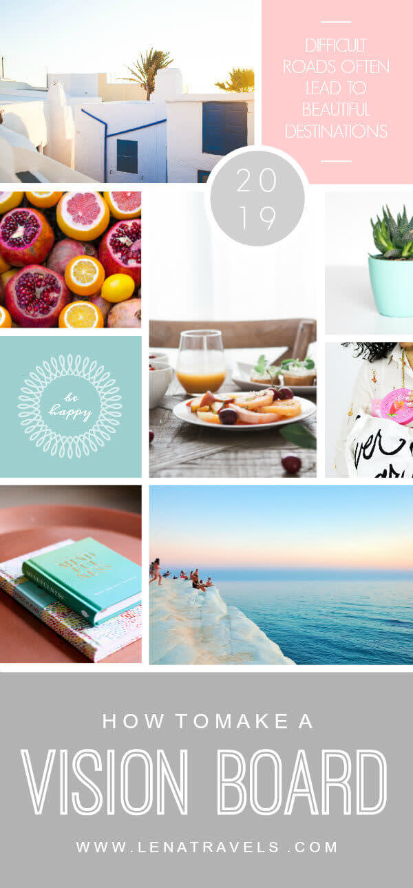 The Board Your Vision template is great for creating vision boards and product promotions.