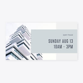Anuncios de banner - Open House de bienes raíces