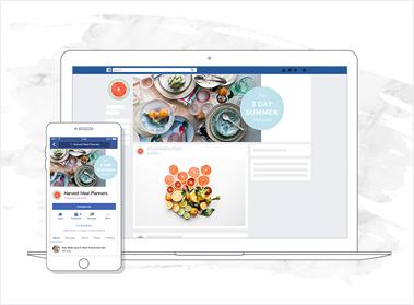 facebook food banner mockup