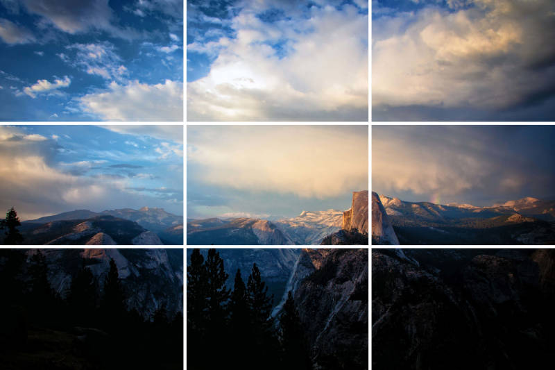 Frame your photos with the rule of thirds in mind.