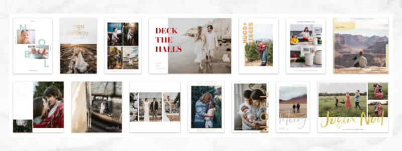 make photo cards for Christmas with templates wt PicMonkey