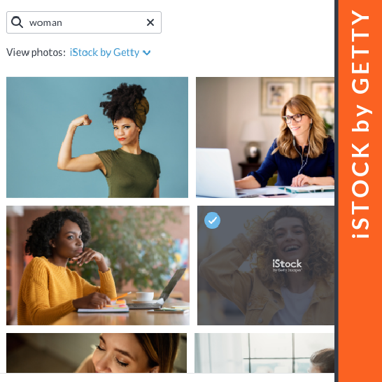 Millions of stock photos from iStock by Getty in PicMonkey