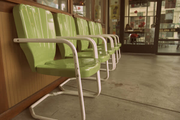 photo of chairs outside Hi 5 Pie