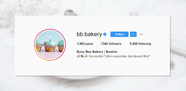 Look to food and cooking if you want a really awesome Instagram bio quote.