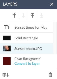 screen shot of the layers palette