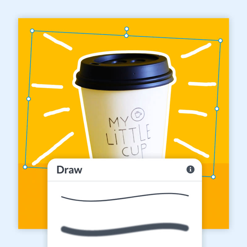 Draw on a photo with PicMonkey's drawing tools