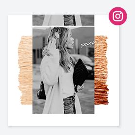 Social media templates for Instagram posts