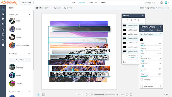 How to use PicMonkey: Create a design from scratch, or use one of PicMonkey's templates.