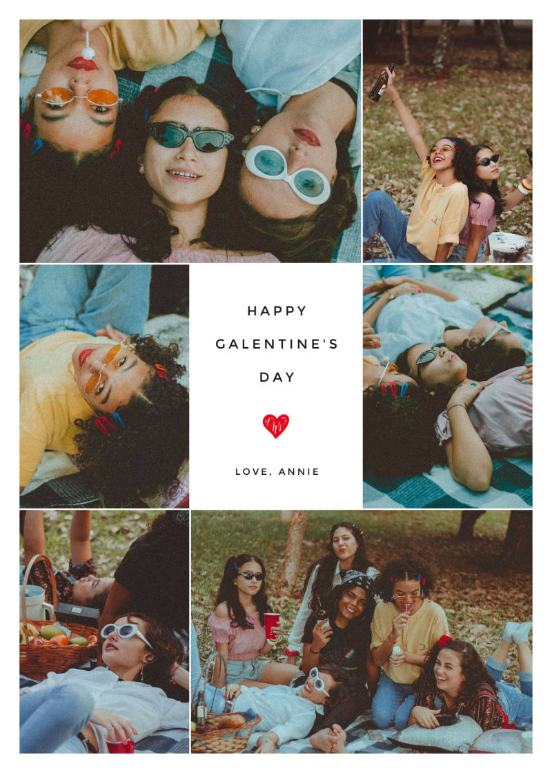 galentines day collage card