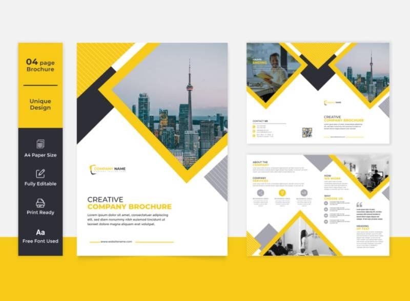 Creative Firm Brochure Design Example