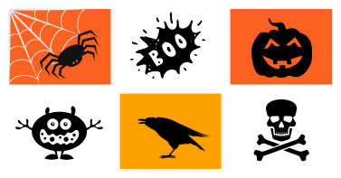 browse all kinds of halloween clip art and graphics -- spiders, jack o lanterns, witches, skulls, candy and more