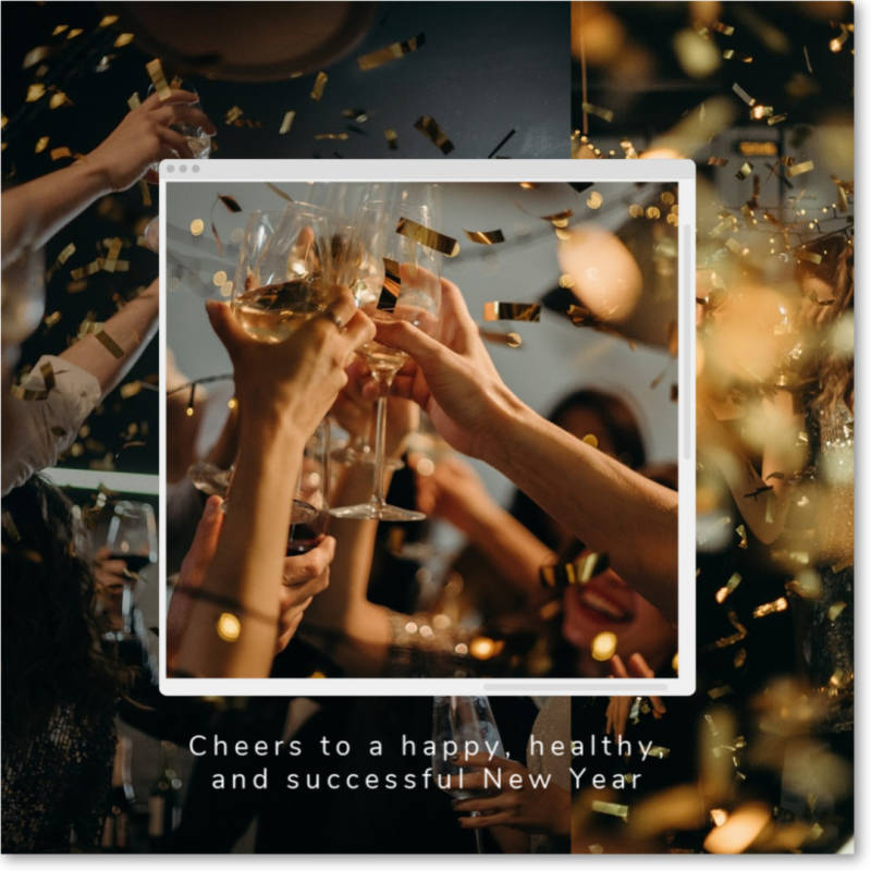 Sending a New Year's card to your clients and customers is a great way to establish goodwill.