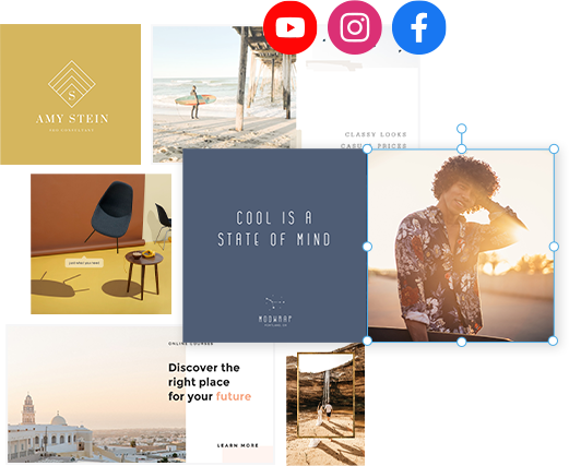 Youtube Instagram Facebook templates