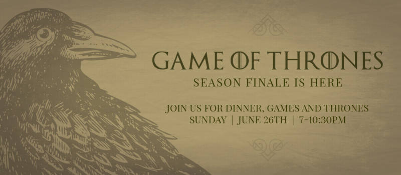 Create a killer party invite (or download this one) for your Game of Thrones watch party.