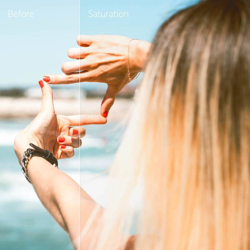 Adjusting the saturation of your image can improve its overall appearance.