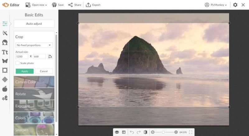 edit photos background, crop