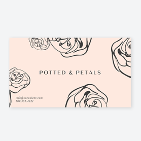 light pink business card
