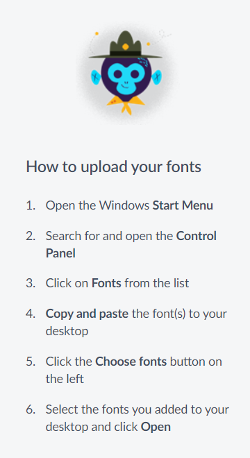 VIDEO: Uploading Your Own Fonts (PC)