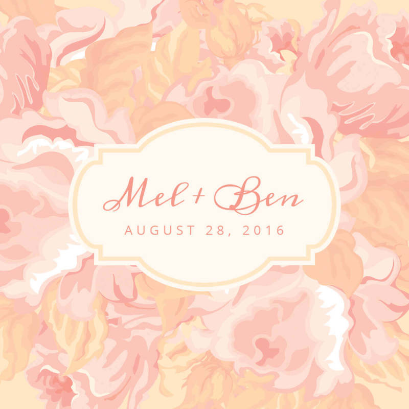 Create a personalized piece of art with graphics and have guests sign it instead of a wedding guest book.