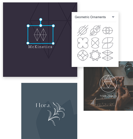 crea tu propio logo con gráficos o símbolos o iconos
