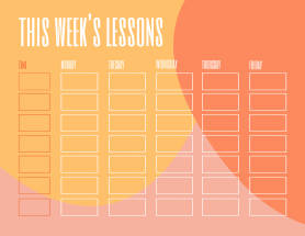 Brightly colored make your own planner template at PicMonkey