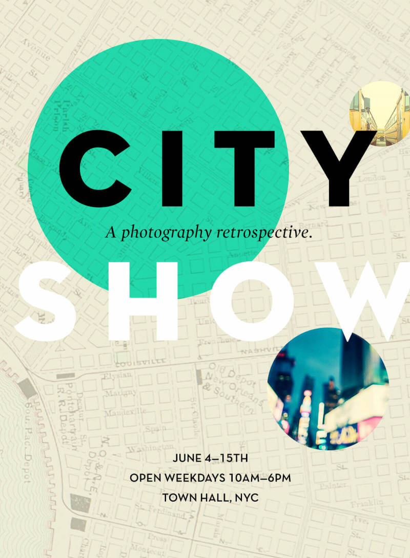 Add circles to your designs—like this one for a city art show—with PicMonkey.
