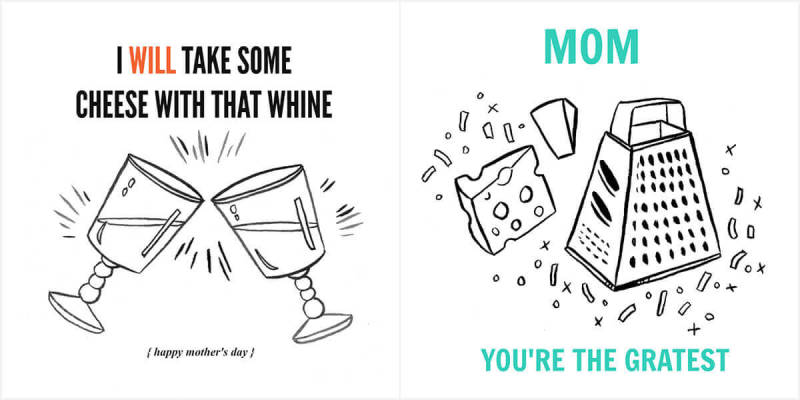These pun-filled templates are great for moms with a silly side.