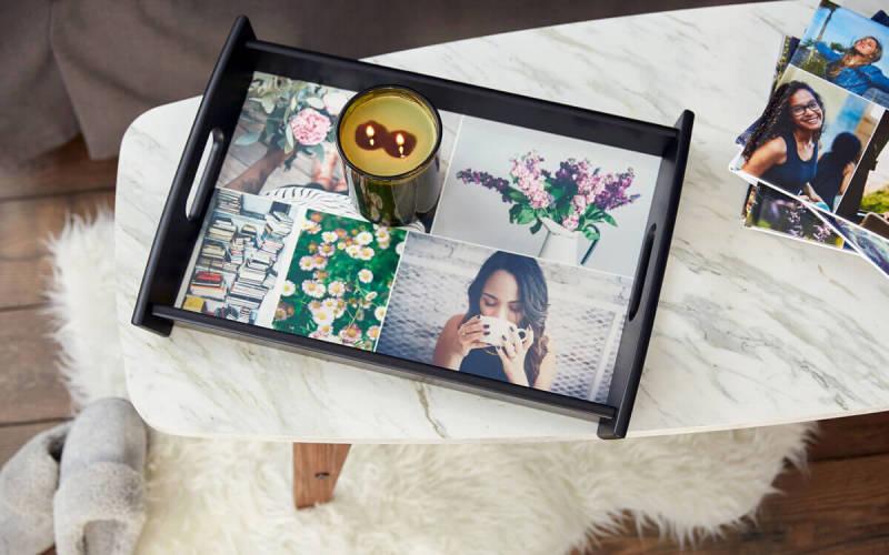Photo gifts, serving tray, design, custom, PicMonkey