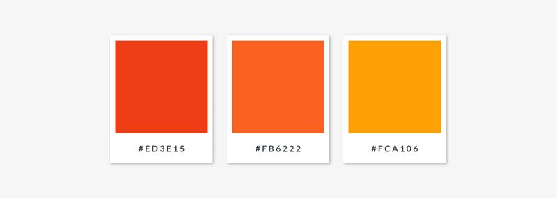 analogous palette - oranges