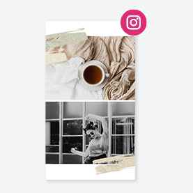 modèle de médias sociaux pour instagram