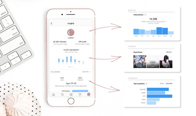 Instagram Insights analytics