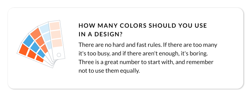 callout : how many colors should you use