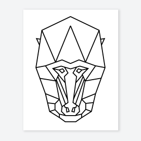 geometric animal coloring page
