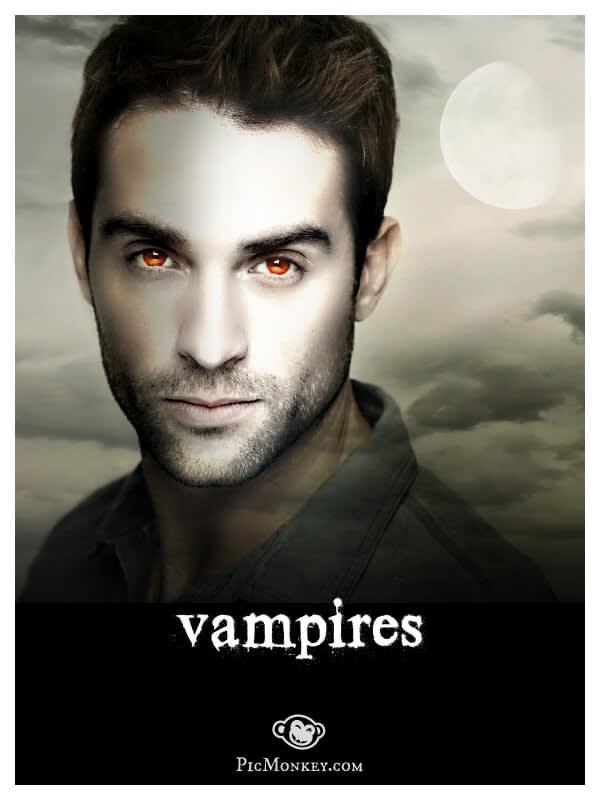 photo of Vampire theme in PicMonkey online photo editor