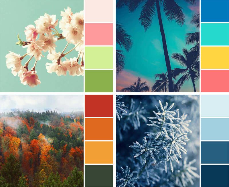secondary color palette, secondary color palettes, seasonal color palettes, design, color, branding, brand