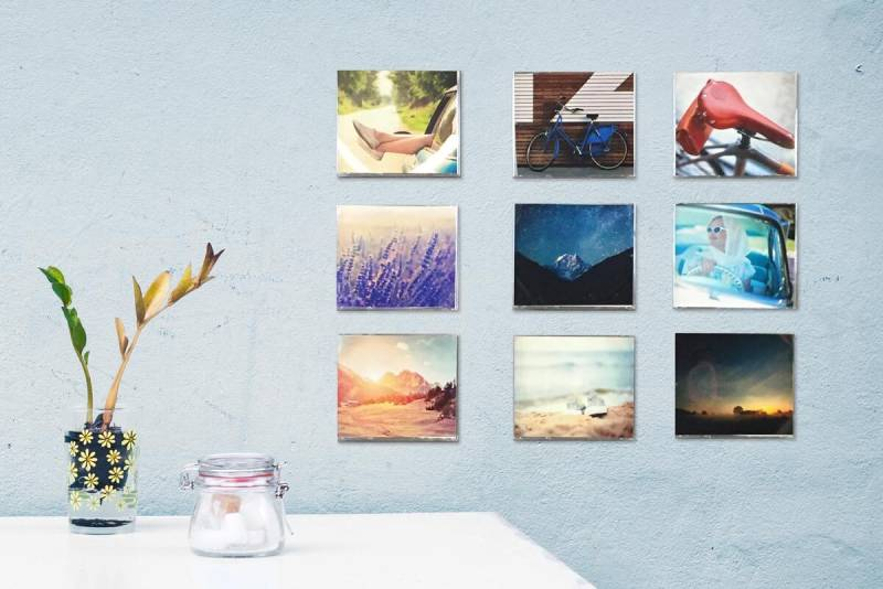 Looking for photo gift ideas? These photos have been cut to fit CD cases for configurable wall art.