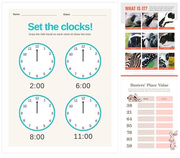 Worksheet maker templates at PicMonkey