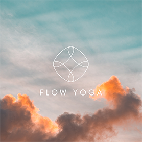 flow yoga logo template