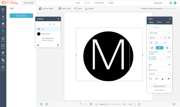 Make your own monogram logo