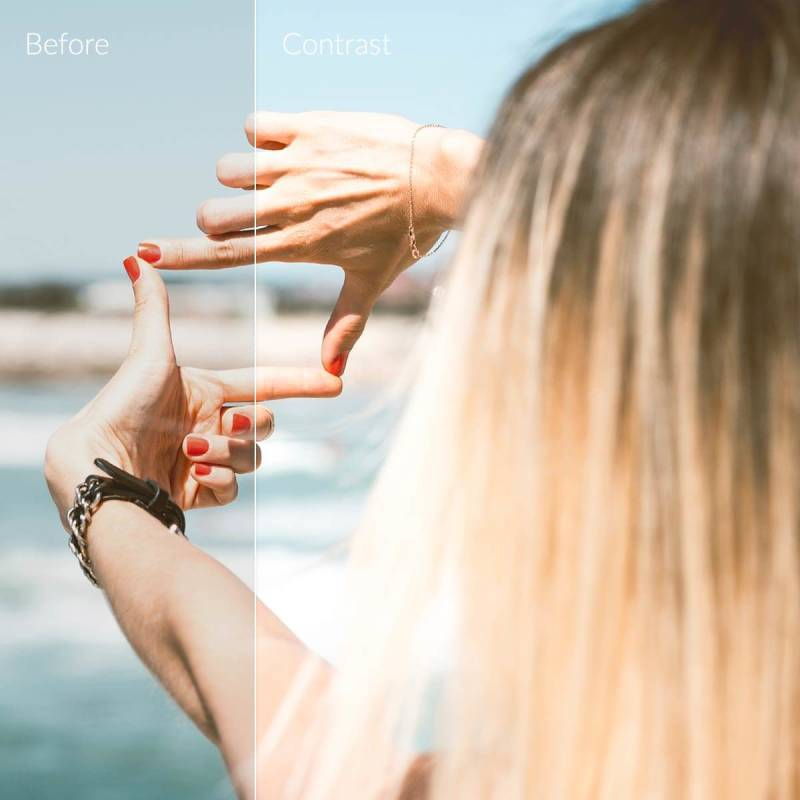 Adjusting the contrast of your photos can make them look extra fantastic.