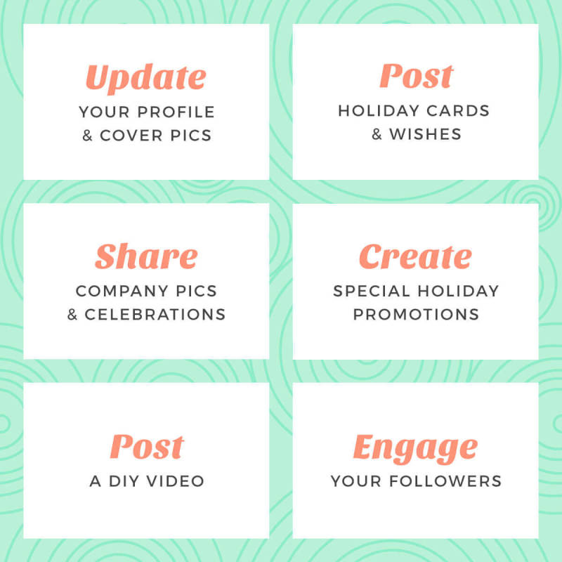 here's your to-do list for managing your social media accounts during the holidays