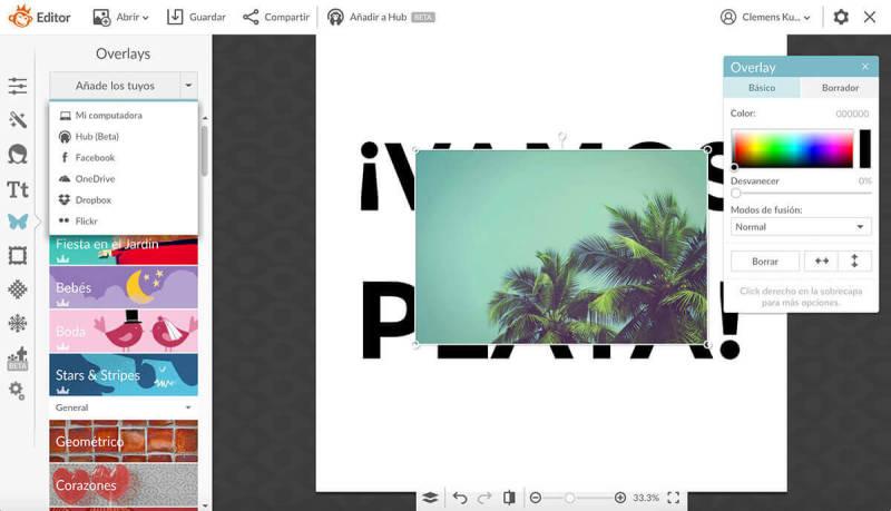 Máscara de texto, máscara de recorte, diseño, texto, PicMonkey
