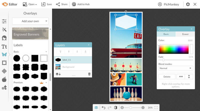 Add text and graphics to your long Pinterest pins in PicMonkey.