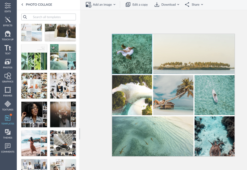 how to collage - photo grid template