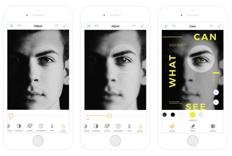 cómo desenfocar selectivamente fotos en la aplicación móvil picmonkey