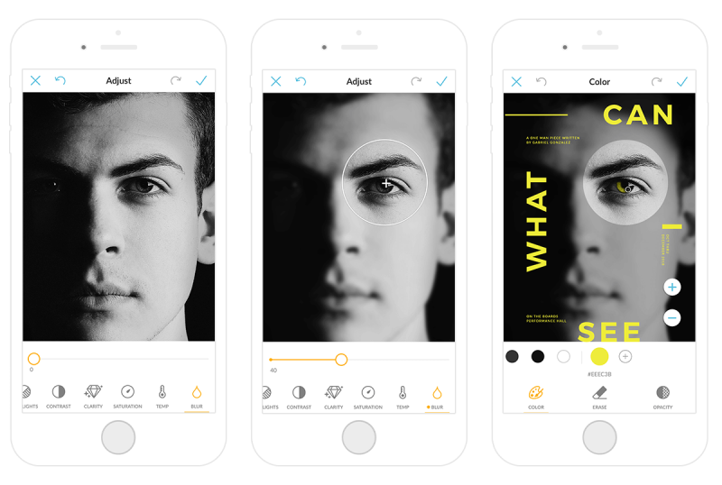 PicMonkey's mobile app lets you blur photos on the run