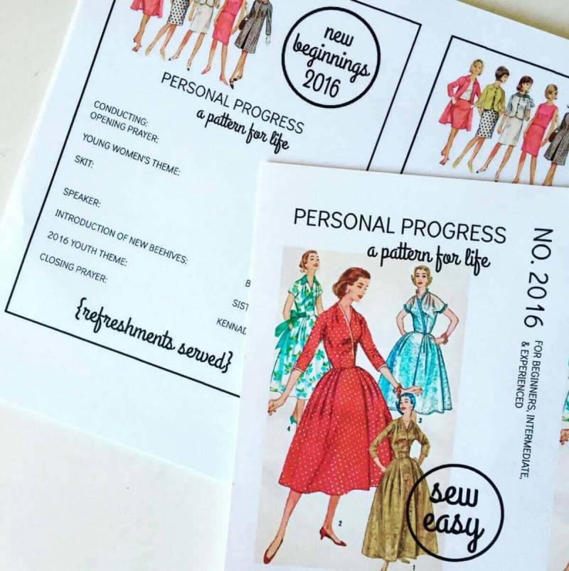La usuaria de PicMonkey Larissa Zitzman diseñó estas invitaciones que parecen patrones de costura antiguas.