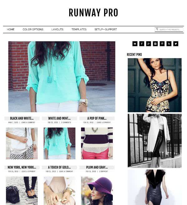 Runway Pro is just one of many fashion-ready WordPress templates you can use.