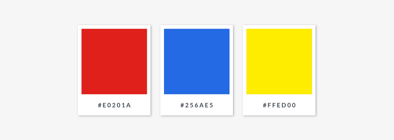 primary colors - red blue yellow